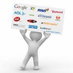 Guy Holding Search Engine Banner