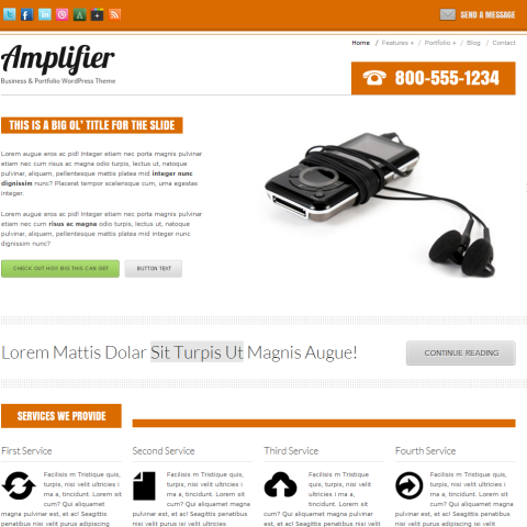 Amplifier HTML template 25 Themeforest