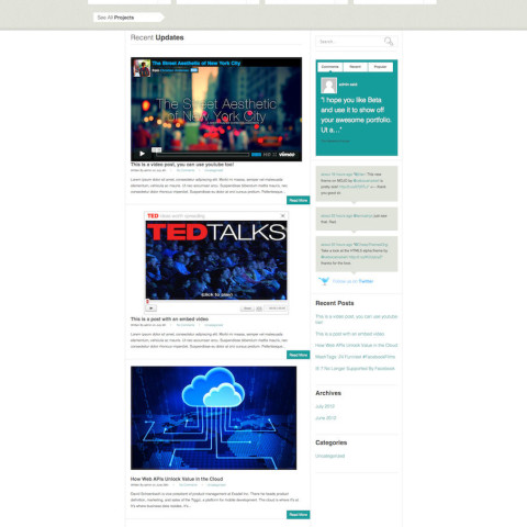 HTML5 Responsive Theme With Built-in Email Newsletter