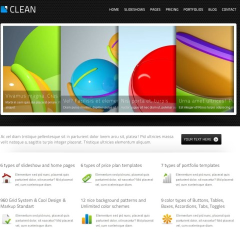 Clean – HTML Template 25