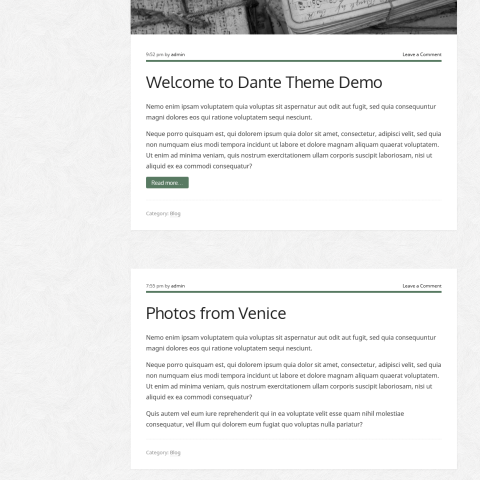 Dante – Responsive WordPress Theme 49 Mojo