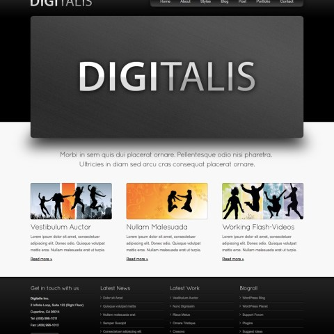 Digitalis – Business and Portfolio HTML Template 20 mojo