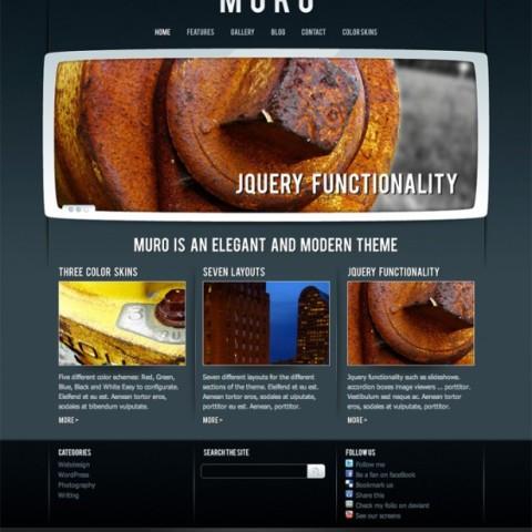 Muro HTML5 template free Zuno