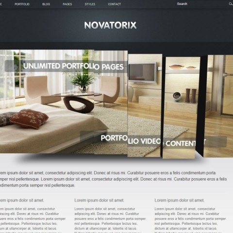 Novatorix HTML- template 25 Themeforest