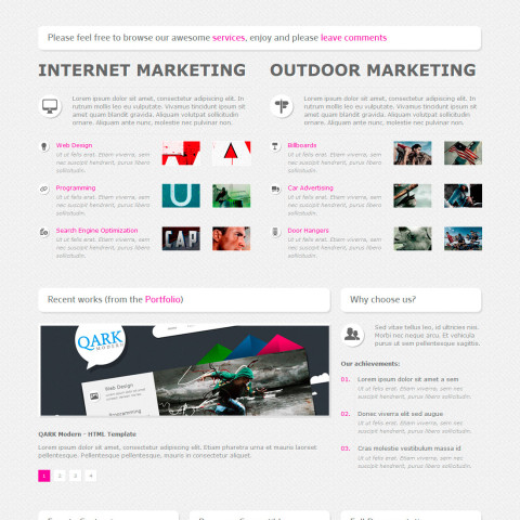 Quark modern HTML template 25 Themeforest