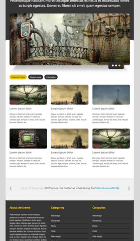 Shinra HTML template free Zuno
