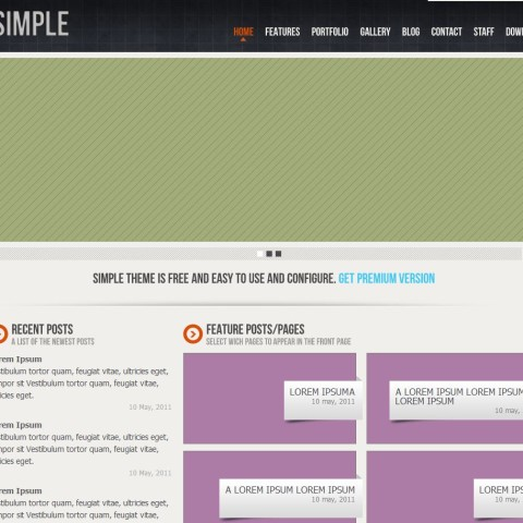 Simple HTML template free