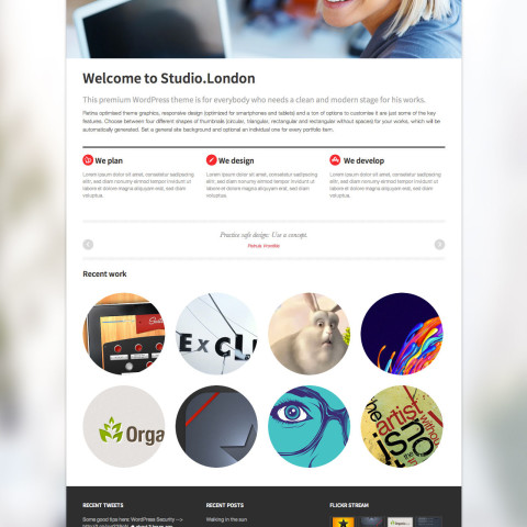 Studio London Responsive Portfolio WordPress Theme 49 Mojo